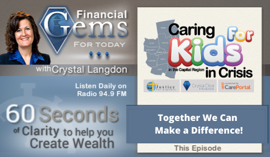 Financial Gems by Crystal Langdon Frame with a Craing for Kids in Crisis Logo